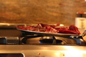 Carefully roast the chiles
