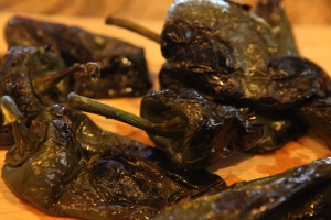 roasted chiles pasillas